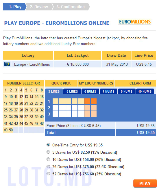 Euromillions Bilete