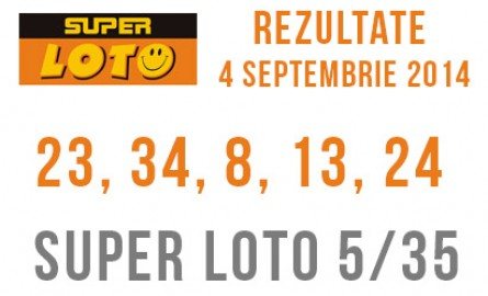 Rezultate Super Loto Moldova 4 Septembrie 2014