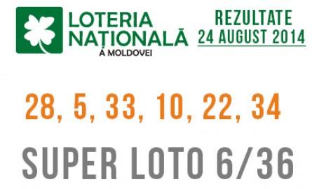 Rezultate Loto Moldova 6/36 din 24 August 2014