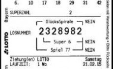 31 Milioane de dolari premii la loteria germana