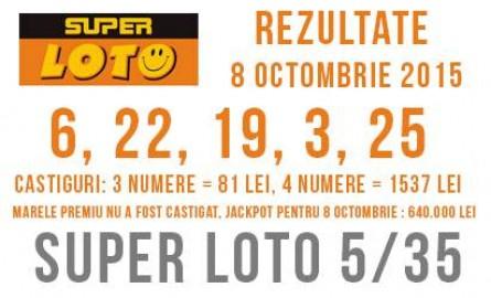 Rezultatele super loto Moldova din 8 Octombrie 2015