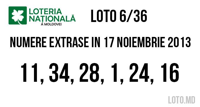 loto 636 din 17 11 2013